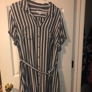 Ava and Viv tie waist shirt dress